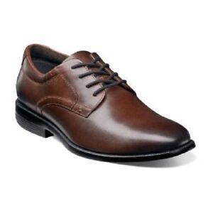 Nunn Bush Mens Devine Plain Toe Oxford Brown Shoes Dressy
