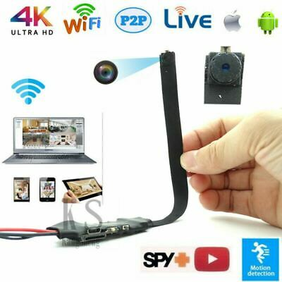4K Wifi Ip Wireless Camera Pinhole covert Spy CAM Security Nanny Recorder USPS