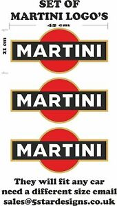 Le-Mans-Martini-Racing-style-3-x-Logo-Set-Sticker-decal-A648ce