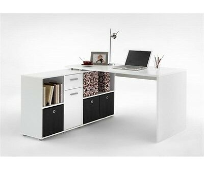 Schreibtisch Winkelkombination LEX Weiß 353-001 NEU