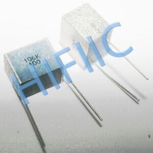 10uf 4 pcs polyester film CAPACITOR ref # 105 106 @ 100v Radial Met 2 pairs