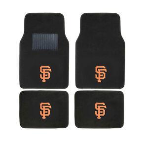 New 4pcs MLB San Francisco Giants Car Truck Front Rear Carpet Floor Mats Set