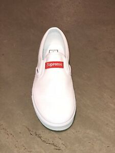 70b7853ab8 Image is loading SUPREME-VANS-Custom-True-White-666-Classic-Slip-