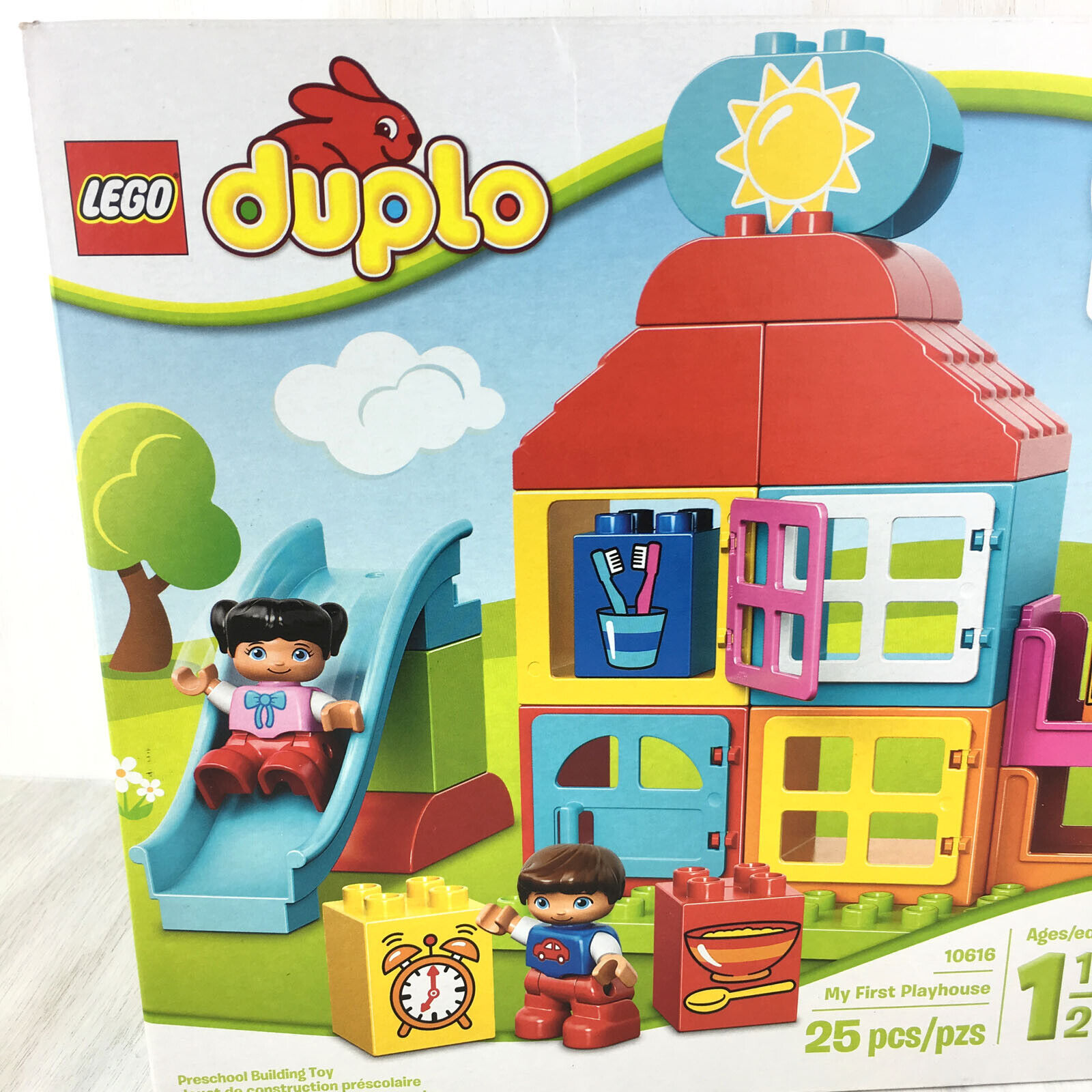 Lego Duplo 10616 Learn About My Day Pre-School Learning First Play House