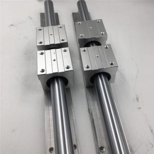 2pc Optical Axis SBR10 12 16 20 Cylinder Rail Linear Guide /& 4pc SBR Slider Kit