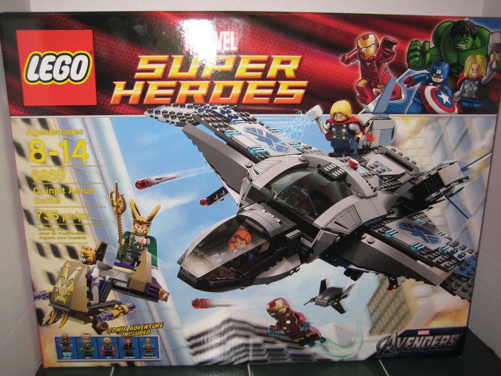 Lego Quinjet Aerial Battle   6869 Marvel Super Heroes Comic Adventure Included