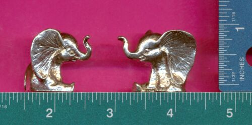 4 wholesale lead free pewter elephant figurines E5035