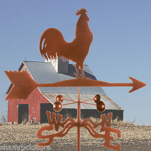 Traditional-Classic-Barn-Rooster-Weathervane-with-Roof-Mount-Chicken-Vane