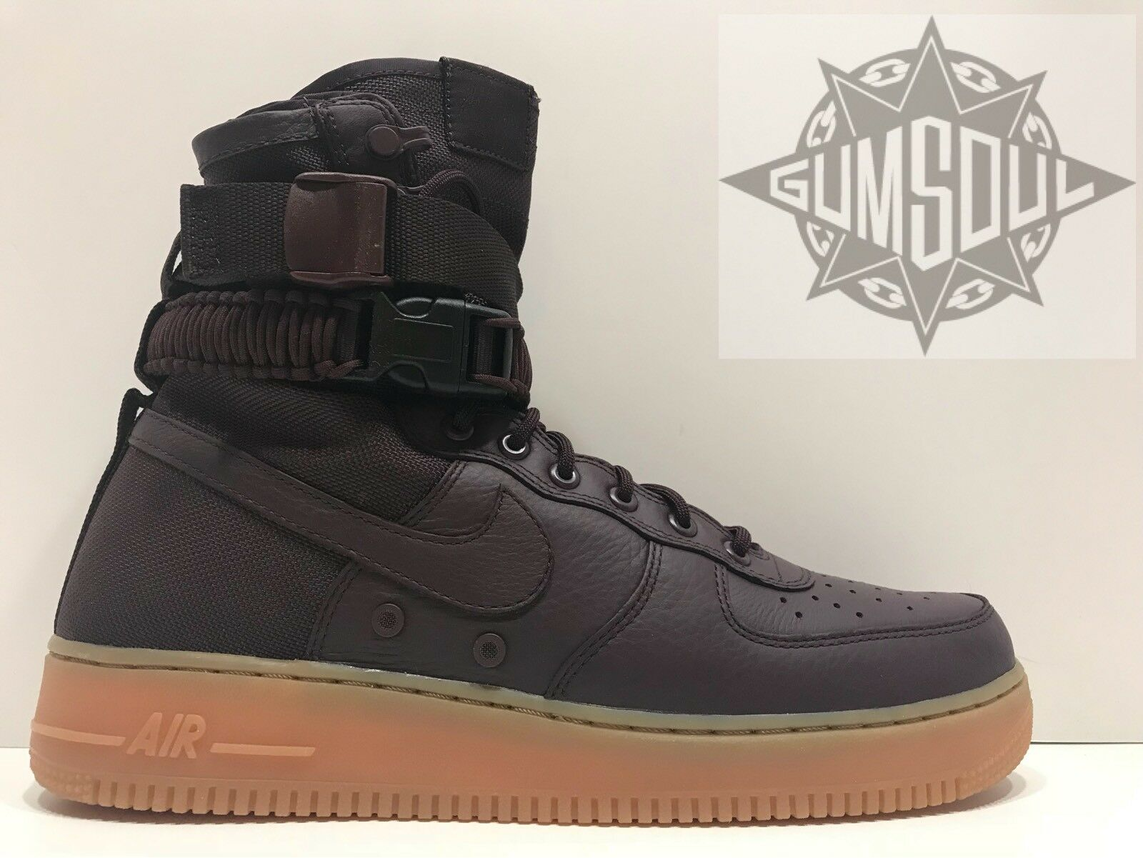 Nike sf af1 speciale campo air force 1 in borgogna una gomma 864024 600 sz
