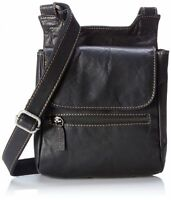 Jack Georges Voyager Collection Slim Crossbody Bag Black 7831 Blk
