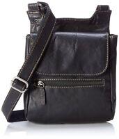 Jack Georges Voyager Collection Slim Crossbody Bag Black 7831 Blk