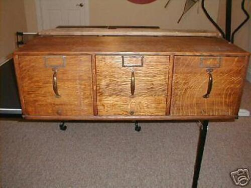 GLOBE WERNICKE//MACEY COMMERCIAL STACK FILE DRAWER HARDWARE JAPANING//BRONZE ALSO