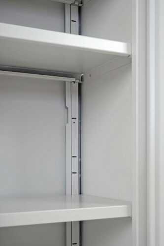 Aktenschrank Valberg H331 Metallschrank Büroschrank 2 Türen 140x92x37cm rot