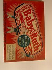 Vintage 1930's Curtiss Baby Ruth Candy Box Cardboard 11.5 x 8? Chocolate 5 Cents