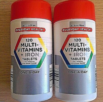 240 Tablets - MULTIVITAMINS & IRON - Multi Vitamins Minerals Supplements 1-a-day