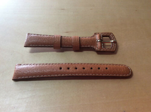 New COBRA Brown Leather Strap 16 mm Strap Leather Brown 16 mm New