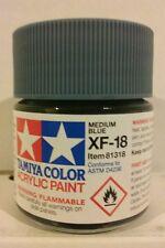 Tamiya acrylic paint XF-18 Medium blue 23ml Mini.