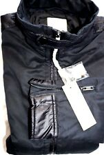 New DIESEL Thalia Black Front Zip Jacket for Men Size Medium $198.00