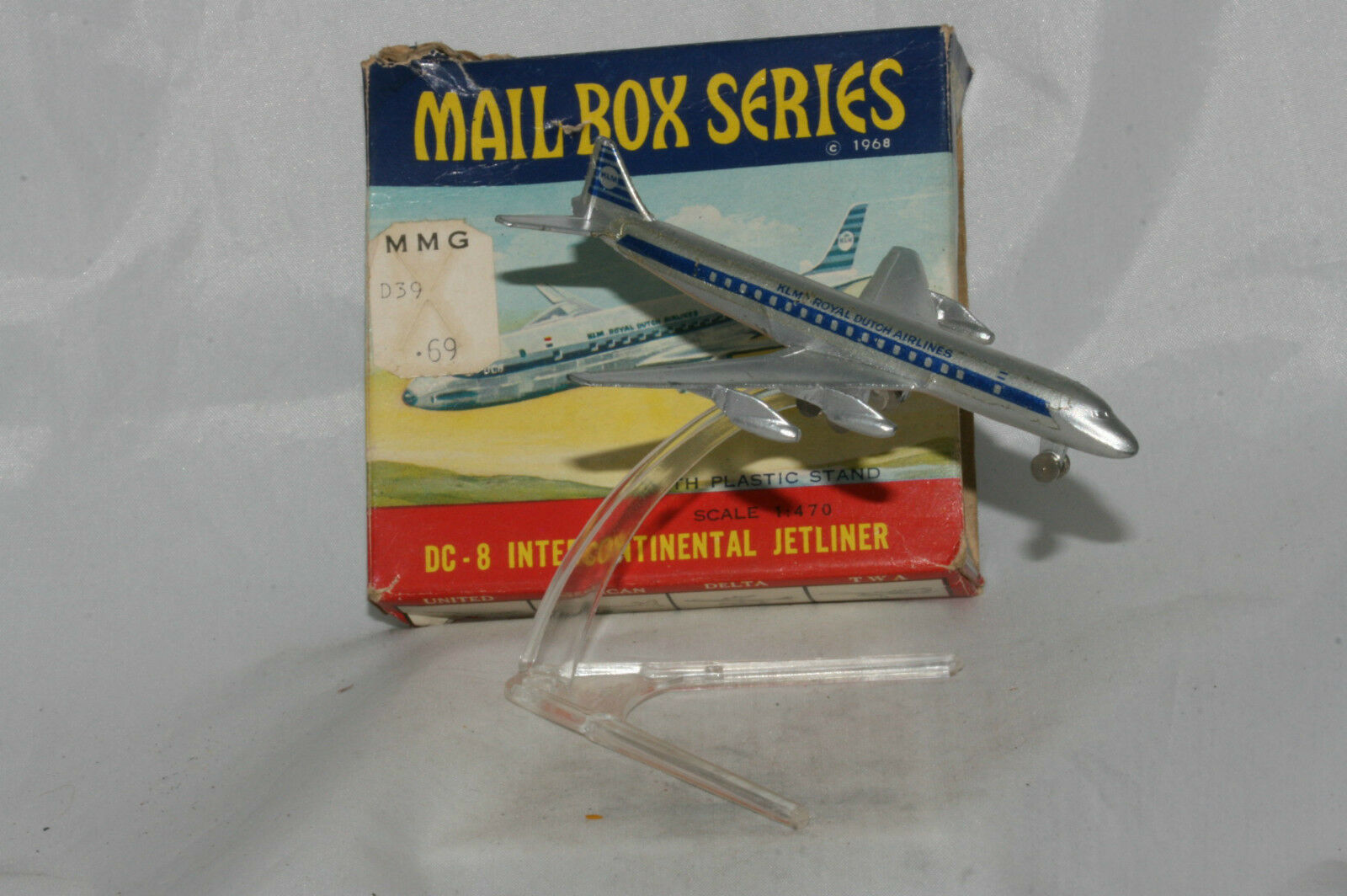 1960's Frankonia Mail Box Series KLM Royal Dutch Airlines DC-8 Jetliner, Boxed