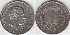 5 LIRE 1869 ZECCA DI MILANO VITTORIO EMANUELE II ( 1861 - 1878 )
