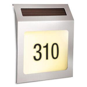 Rethink-Solar-Powered-Stainless-Steel-Address-Light-w-Long-lasting-LED-Bulb