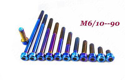 2pcs M6 x 17//19//25//30//35mm S-PARKS Titanium Cylindrical Head Torx Screws Bolts