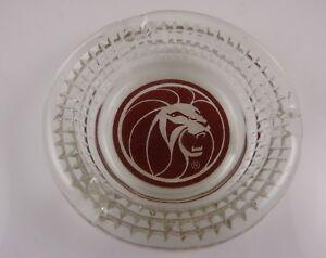MGM-Las-Vegas-Casino-hotel-Vintage-glass-Ashtray-Leo-the-Lion-head-round