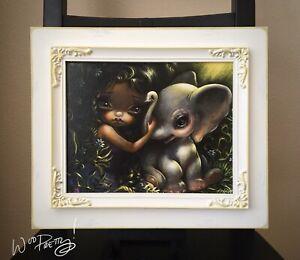 JASMINE-BECKET-GRIFFITH-Elephant-Friend-8x10-Canvas-Print-w-Custom-Frame