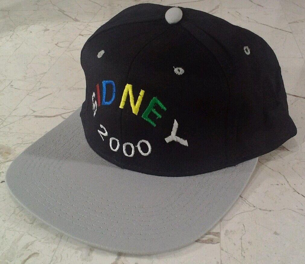 Rare SIDNEY 2000 Snapback Hat NOS VHTF EXC Misspell? NICE Black VTG