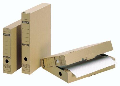 5 x Leitz 6084 Archivschachtel DIN A4 Archivbox Steh-Ordner 70 x 325 x 265 mm