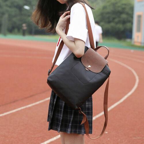 Leisure Travel Nylon Zipper Bag Student Backpack Folding Bag Shoulder Travel Bag