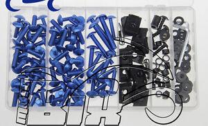 blu set di viti colorate Set di viti per carenatura portatile universale accessori di ricambio per moto