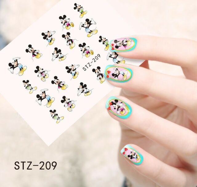 Nail Art Water Decals Stickers Transfers Mickey Mouse KAWAII (stz209 ...