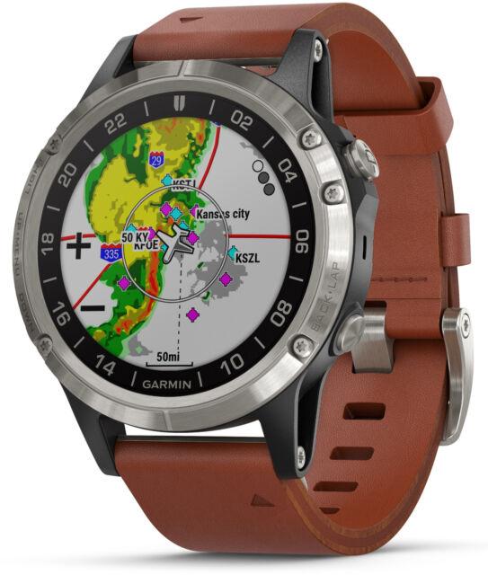 d41579ae657 Garmin D2 Delta Aviator Pilot 47 mm GPS Watch w  Brown Leather Band 010-