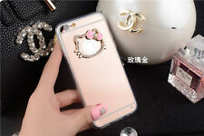 Luxury Mirror Bling Diamond Crystal Hello Kitty Case Cover for iPhone 6S/7 Plus