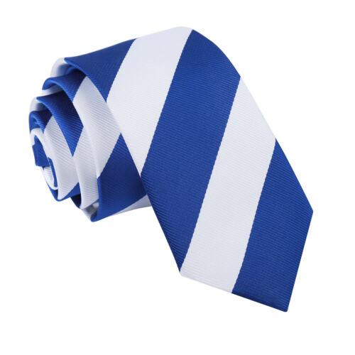 Hommes Cravate Standard Slim Fine Classique Noeuds Rayé Multicolore Marque DQT