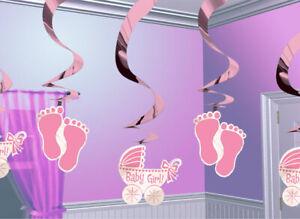 Deko-Spiralen-Baby-in-rosa-Kindergeburtstag-Geburtstag-Partydekoration