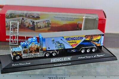 Herpa 120371 Henglein Airbrush Design Kenworth W-900 Tractor Trailer 1:87 HO