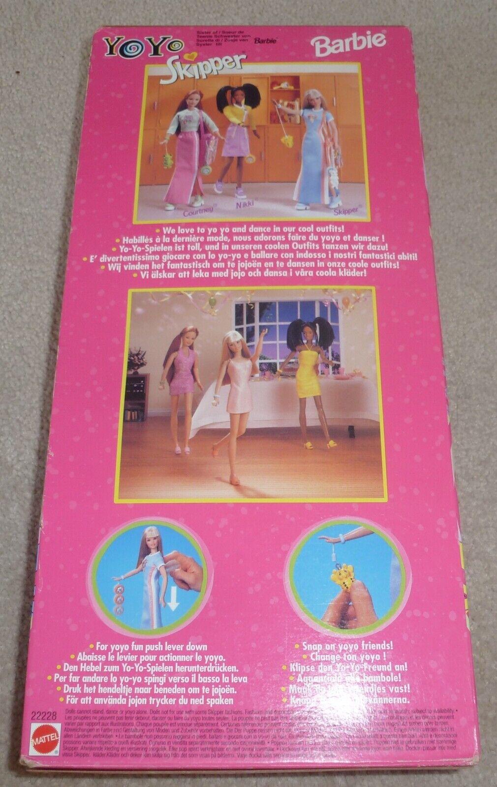 1998 Barbie YO YO YO YO SKIPPER BAMBOLA mai tolto dtuttia scatola. d7c2b3