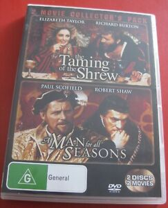 1-X-DVD-2-MOVIES-2-DISCS-THE-TAMING-OF-THE-SHREW-A-MAN-FOR-ALL-SEASONS-PAL