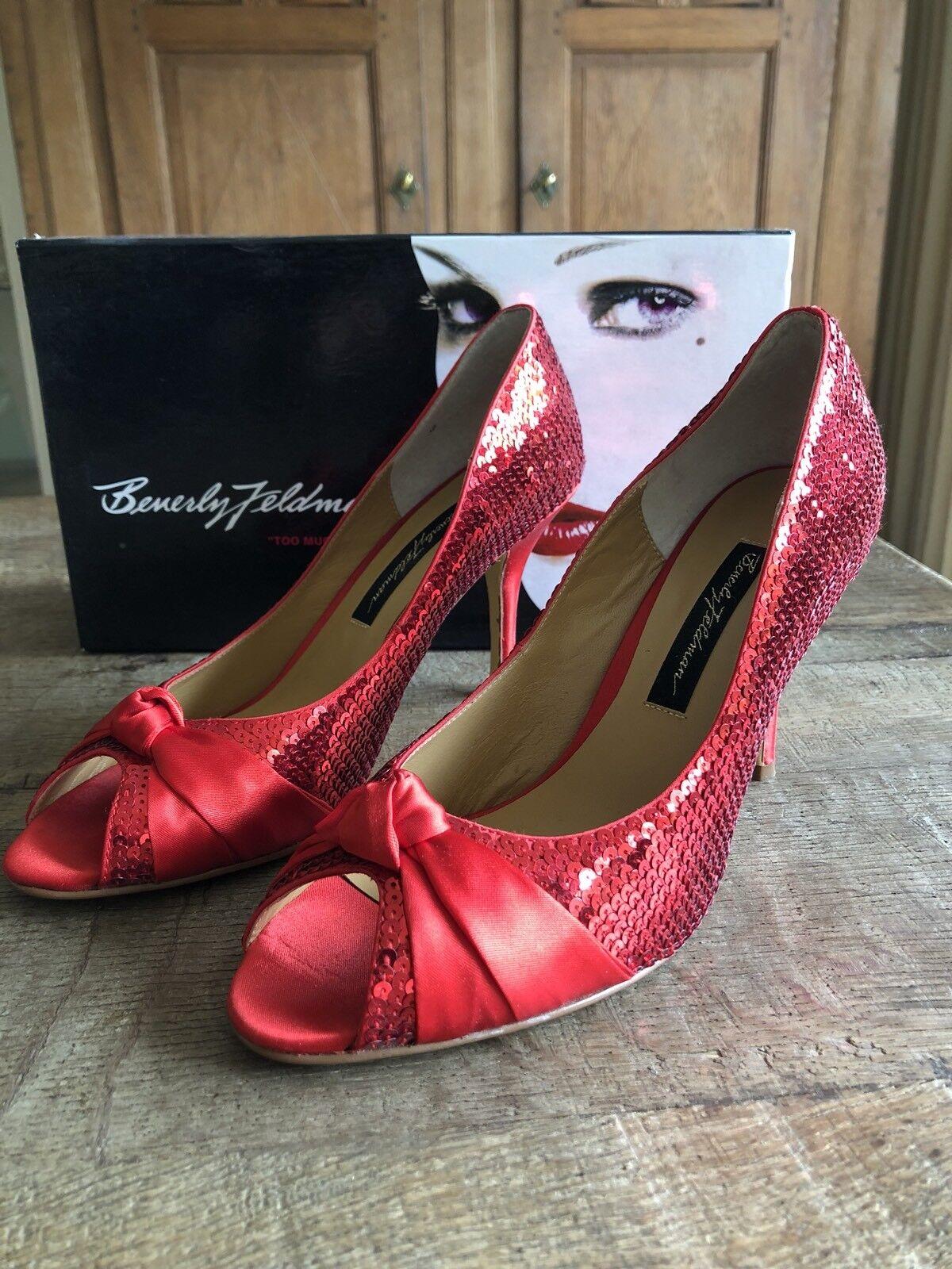 Beverly Feldman PUMPS Schuhe Pailletten Gr. 38 NEU mit Karton
