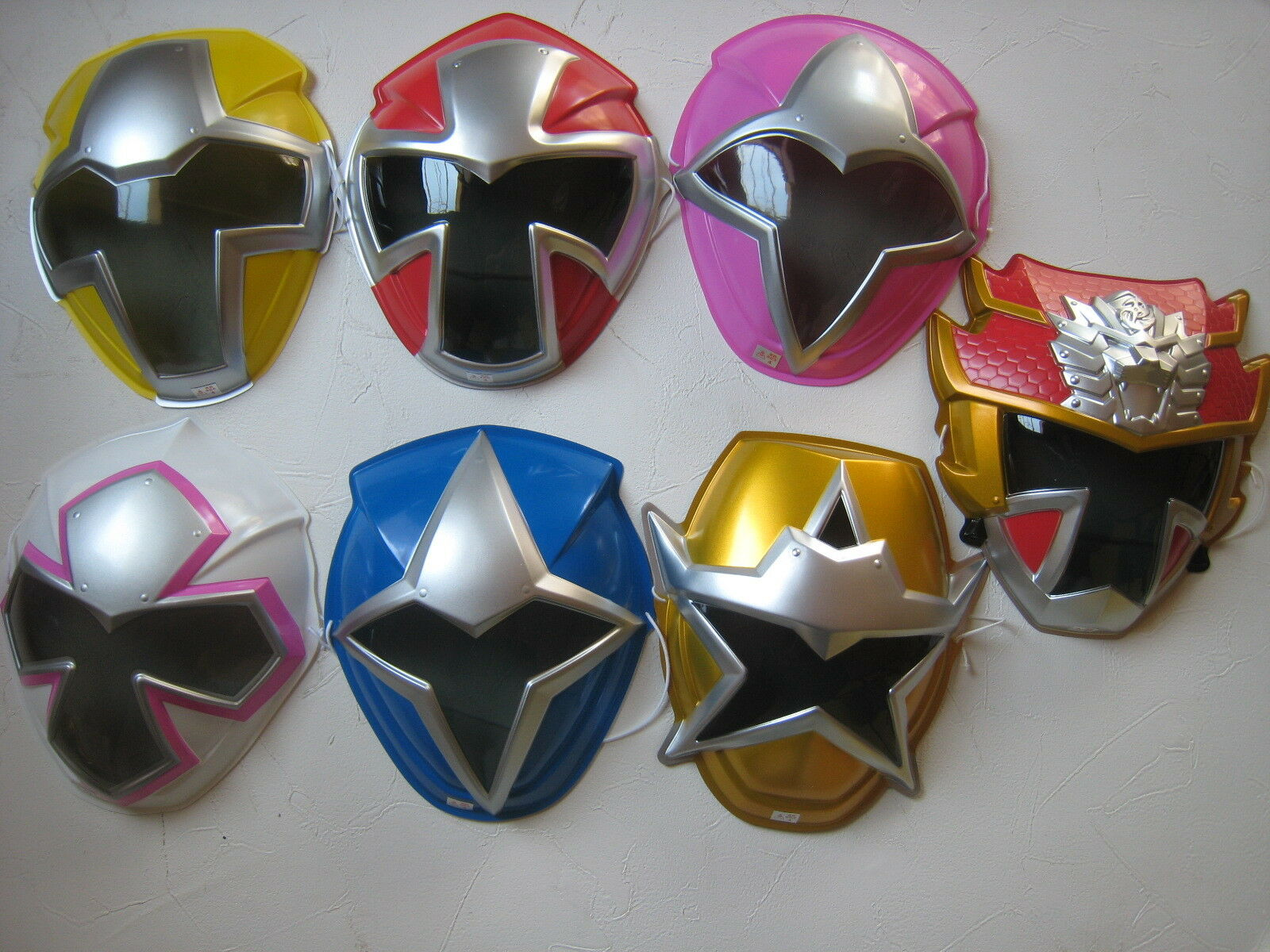 Power Rangers Ninja Steel set of 7 PVC play face mask wall decor pretend play