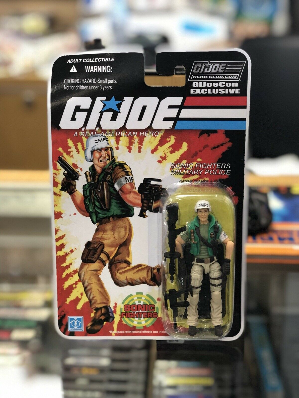 Hasbro GI Joe Joecon 2018 Club Exclusive Sonic Fighters Military LAW MOC Carded