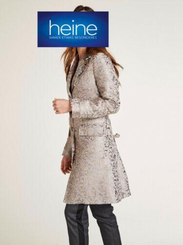 Kp 149,99 € A breve cappotto Jacquard Di Heine Timeless Rosa//Grigio Argento NUOVO!!