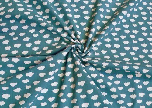 100/% Baumwolle Stoff Kinderstoff Patchwork Deko Bekleidung Mundschutz Wolken