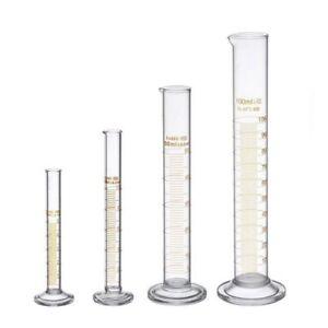 Dickglas-Messzylinder-Set-5ml-10ml-50ml-100ml-Glas-mit-zwei-Buersten-X6H2