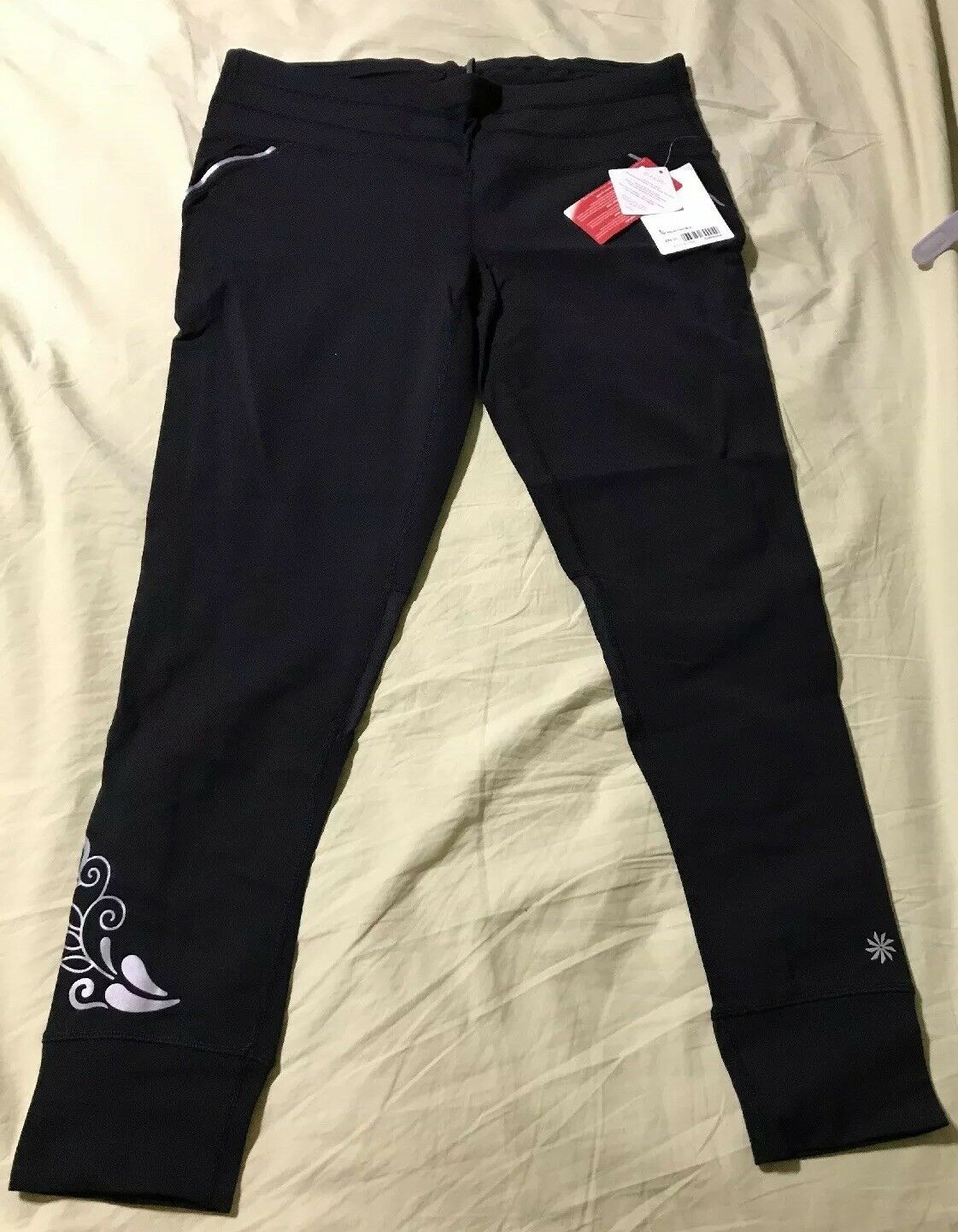5dea2e1393f40 Women's Relay Running Tights- NWT- Reflective Size Large Details- Athleta  nfnafv5003-Activewear Tops