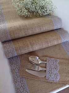 150cm-Natural-Hessian-Burlap-and-Pretty-Grey-Lace-Table-Runner