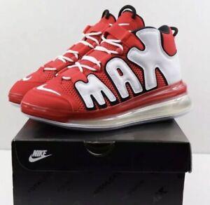 promoción ahorrar en pies imágenes de Nike Air More Uptempo 720 QS 2 Red White Black Running CJ3662-600 ...