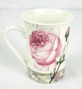 Kent-Pottery-Mug-Cup-Pink-Rose-Shabby-Chic-FINE-CHINA